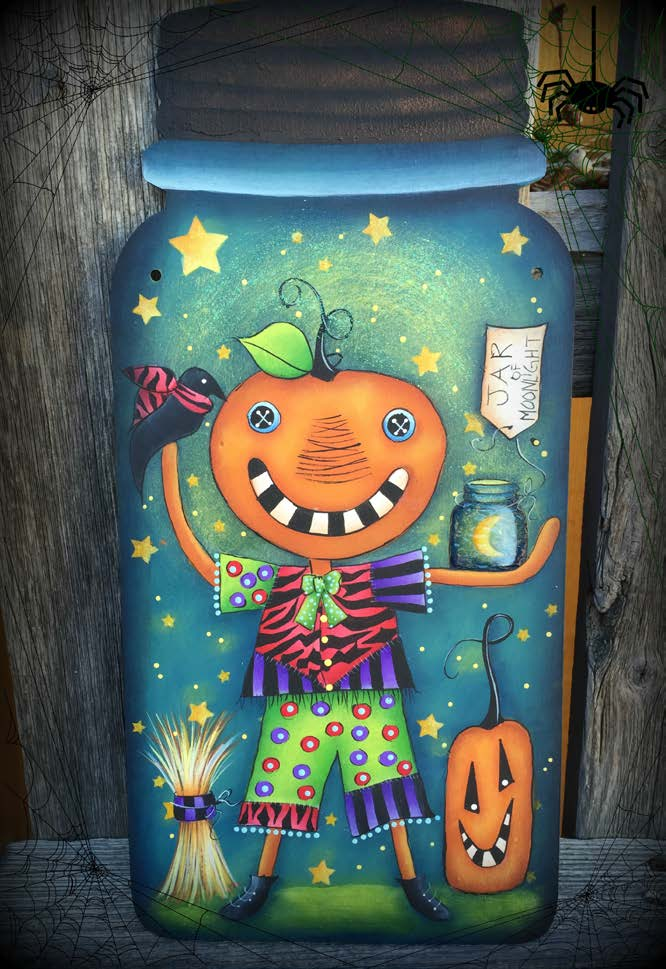 Pumpkin Jar of Moonlight - E-Packet - Deb Antonick