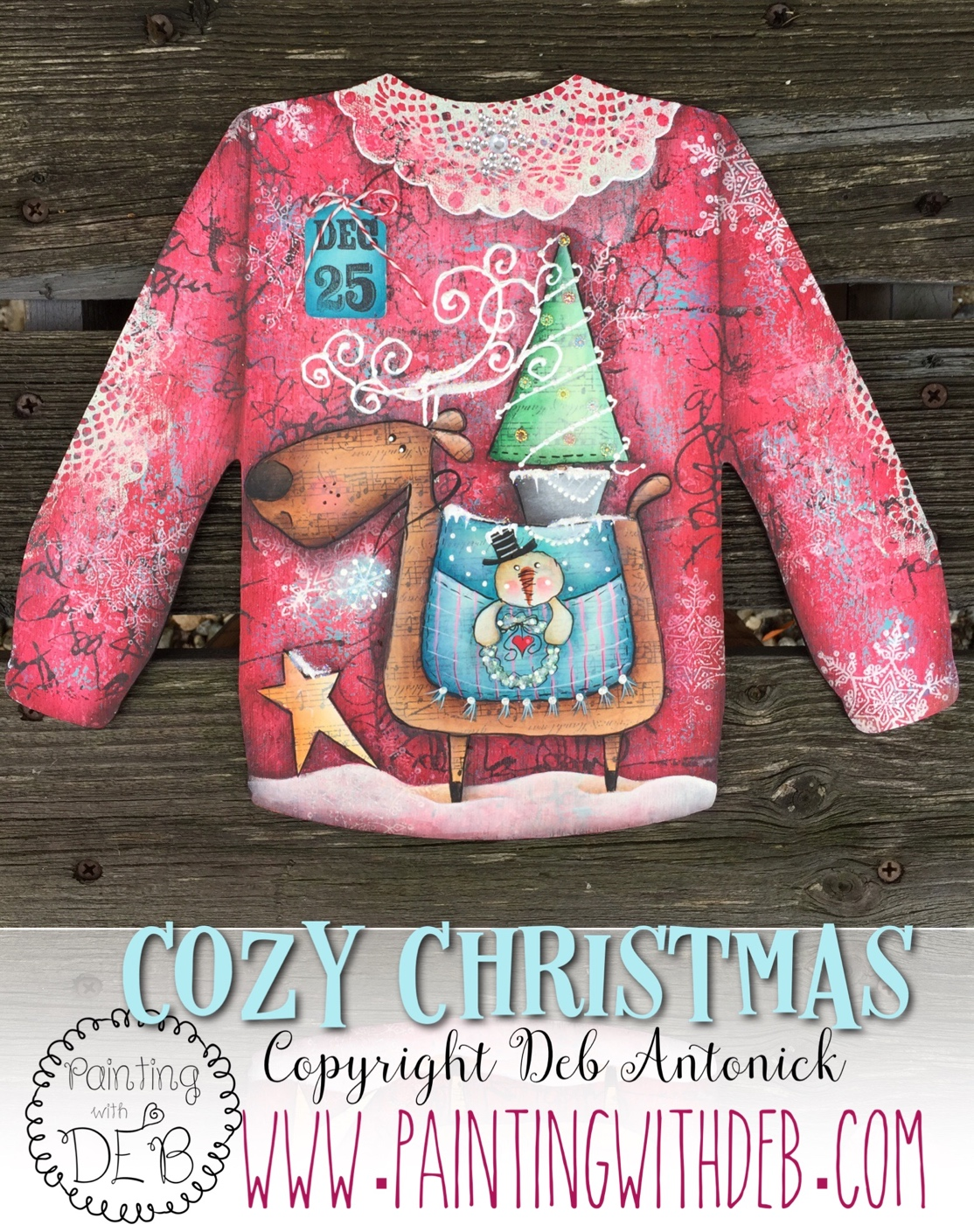 Cozy Christmas Sweater - E-Packet - Deb Antonick