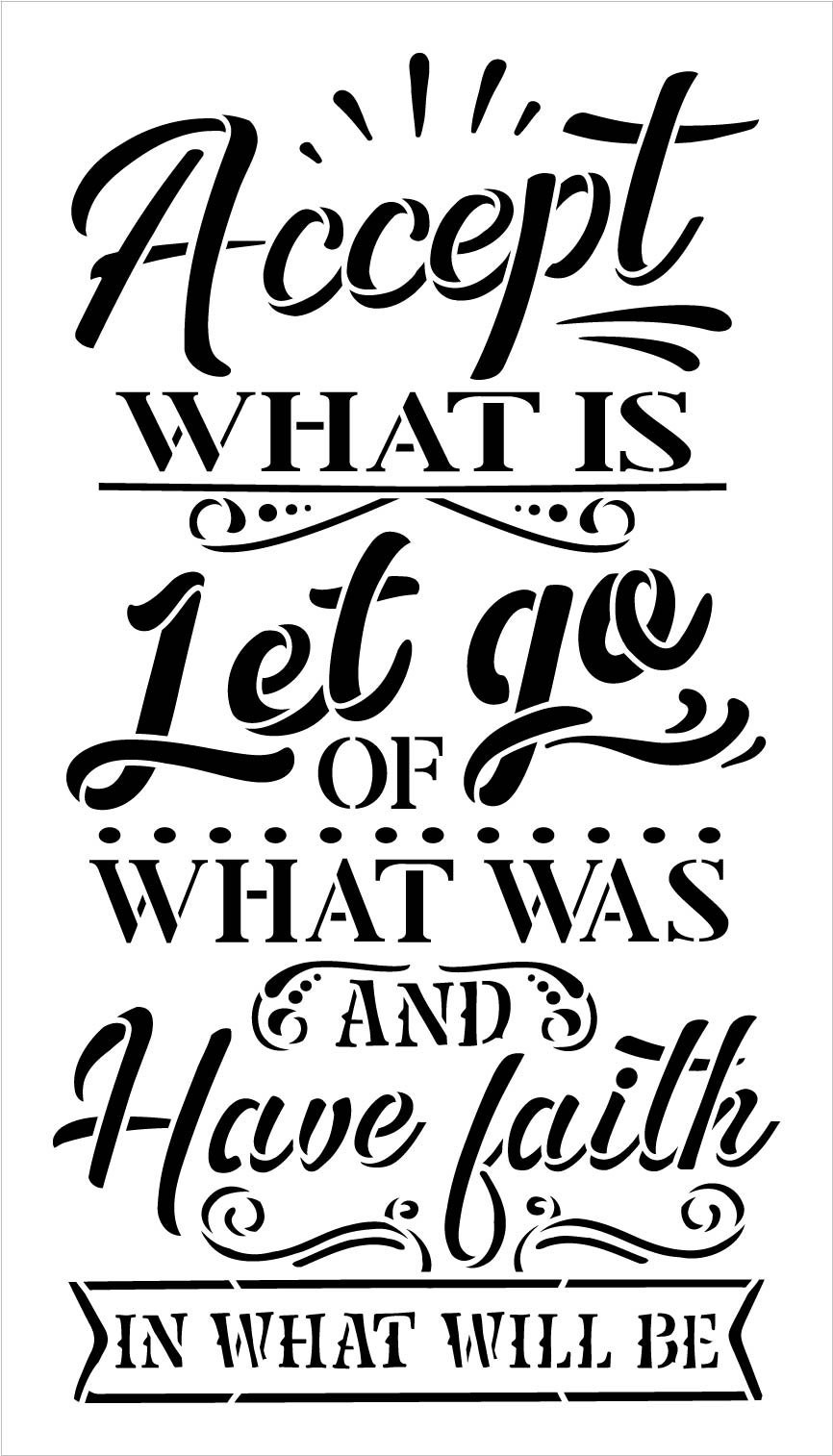Have Faith in What Will Be Stencil by StudioR12   DIY Motivational Quote Word Art Home Decor   Craft & Paint Wood Sign   Select Size