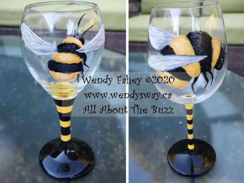 All About the Buzz Glass Painting - E-Packet - Wendy Fahey