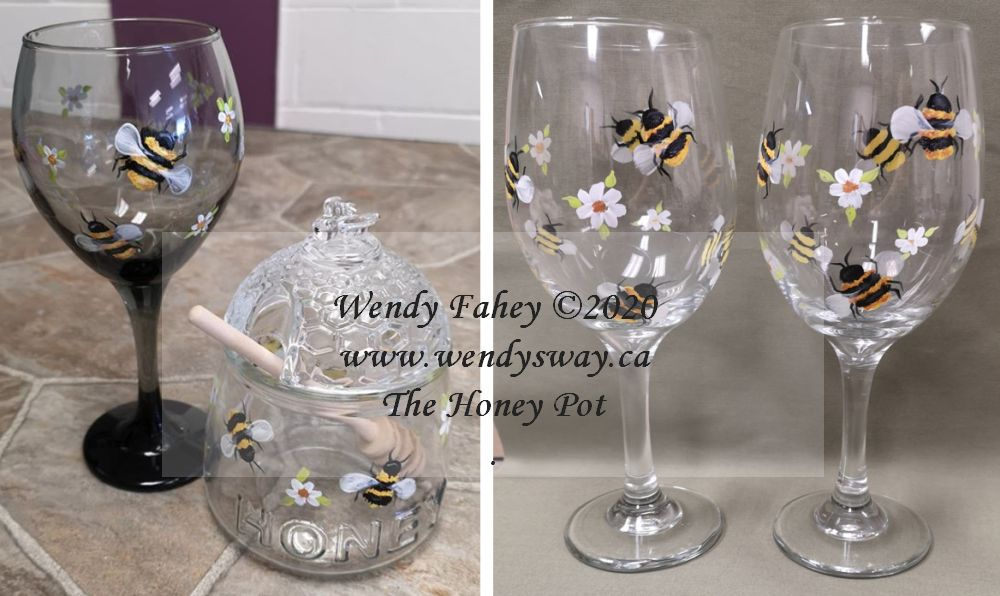 The Honey Pot Glass Painting - E-Packet - Wendy Fahey