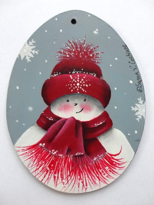 Snow Kid Ornament - Arnie - E-Packet - Susan Cochrane