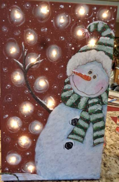 Twinkle Twinkle Snowman on Canvas - E-Packet - Betty Bowers