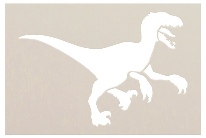 Velociraptor Stencil by StudioR12   DIY Nursery & Bedroom Decor   Create Dino Party Decorations   Craft & Paint Wood Sign   Select Size