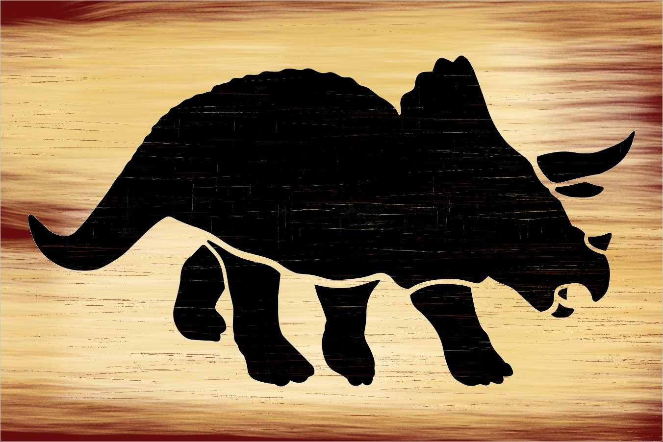 Triceratops Stencil by StudioR12 | DIY Dinosaur Bedroom Decor | Create Dino Party Decorations | Craft & Paint Wood Signs | Select Size