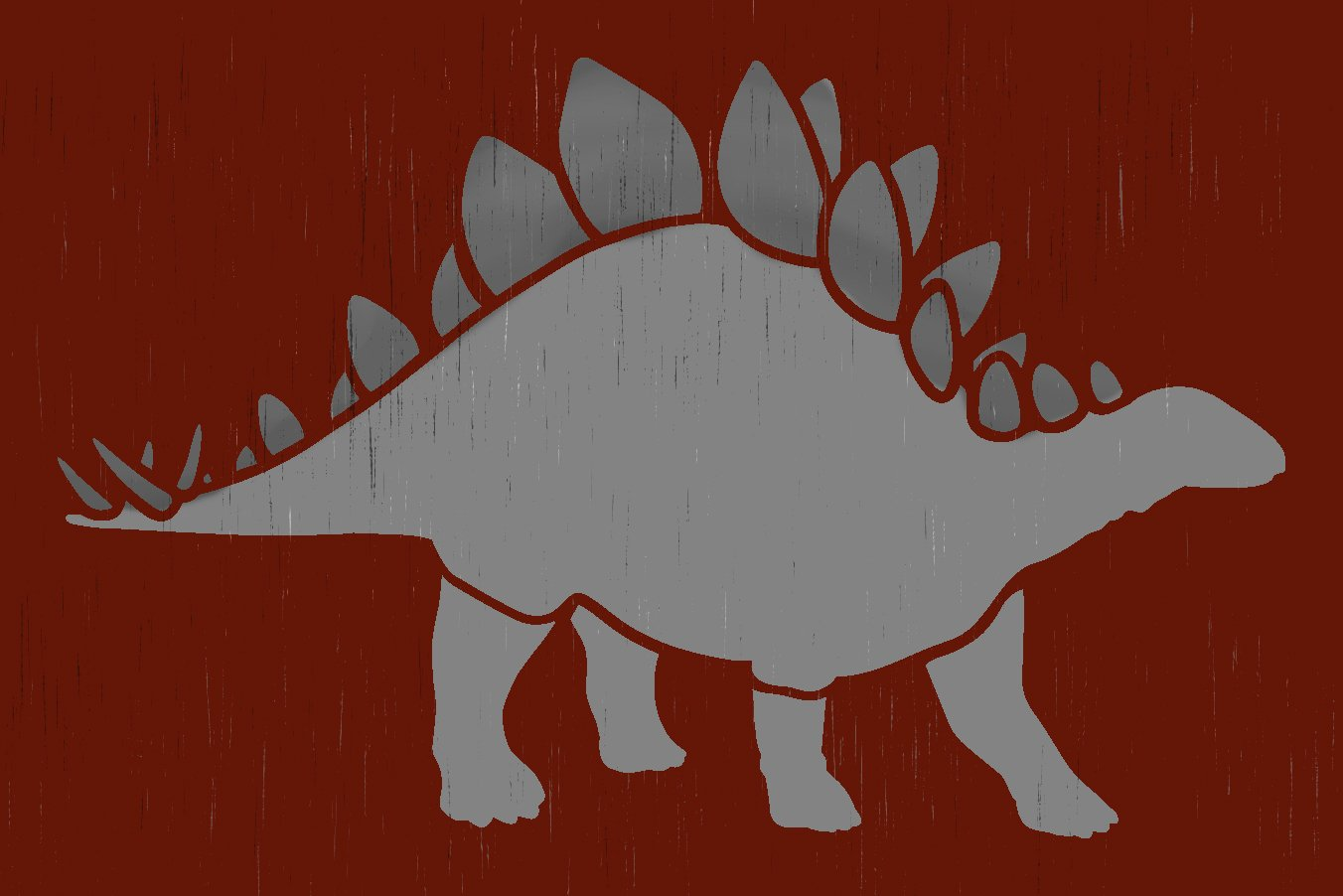 Stegosaurus Stencil by StudioR12 | DIY Nursery & Bedroom Decor | Create Dino Party Decorations | Craft & Paint Wood Signs | Select Size