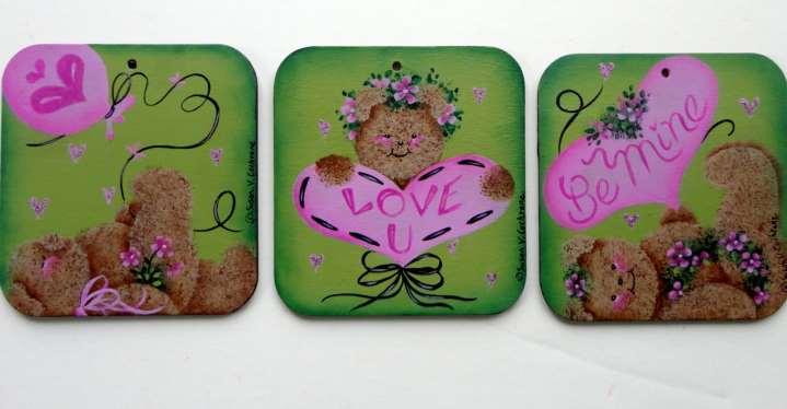 Love U, Be Mine Ornaments - E-Packet - Susan Cochrane