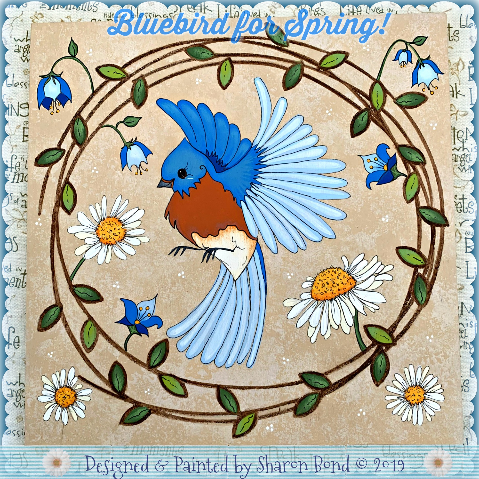 Bluebird for Spring! - E-Packet - Sharon Bond