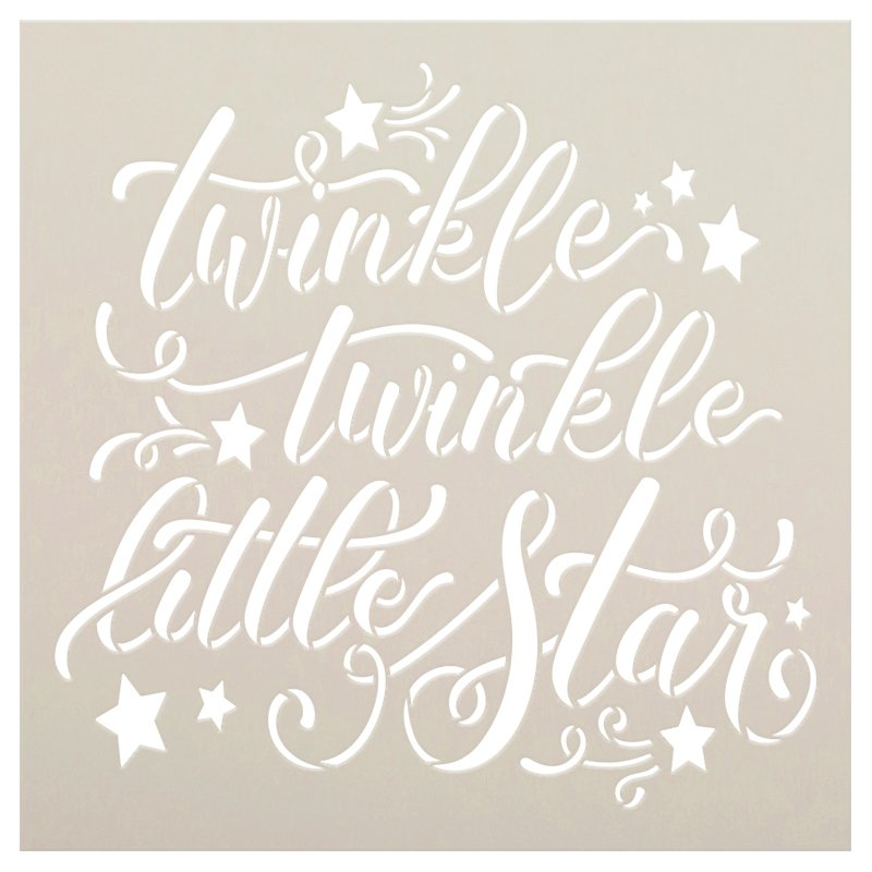 Twinkle Twinkle Little Star Stencil by StudioR12 | DIY Child Bedroom & Nursery Home Decor | Craft & Paint Wood Signs | Select Size