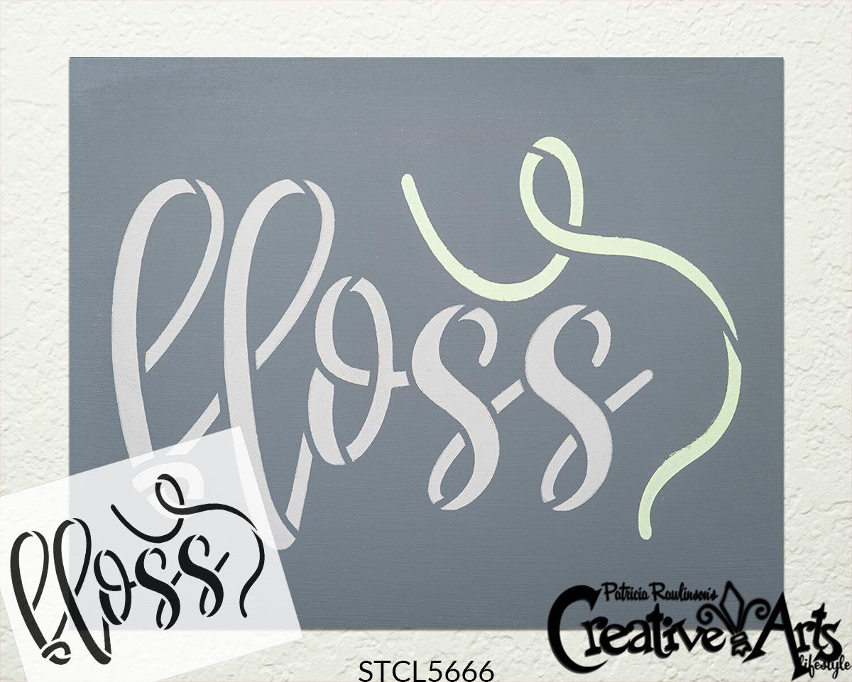 Floss Cursive Script Stencil by StudioR12 | DIY Simple Home & Bathroom Decor | Craft & Paint Farmhouse Wood Signs | Select Size