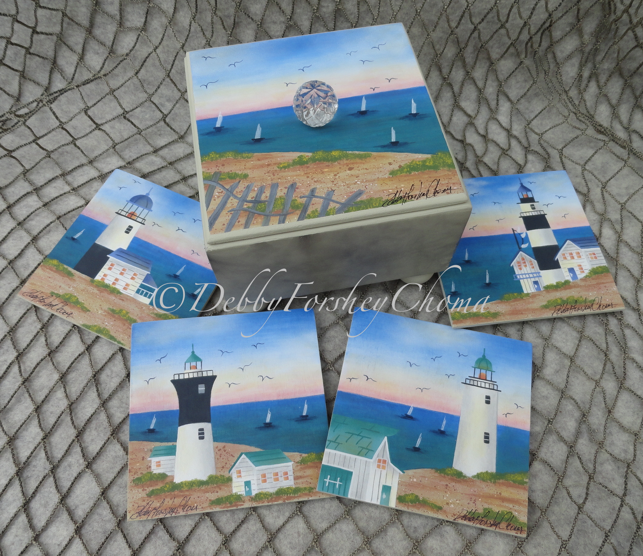 Summer Lighthouse Scenes - E-Packet - Debby Forshey-Choma