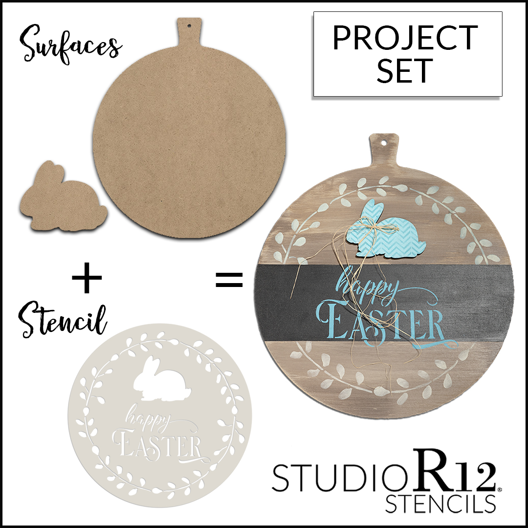 Happy Easter with Bunny Embellishment Project Set