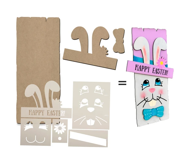 Easter Bunny Project + Stencils + Surface Set By StudioR12