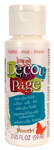 DecoArt Decoupage - Matte   2 oz. - 8 oz.   MDMS113
