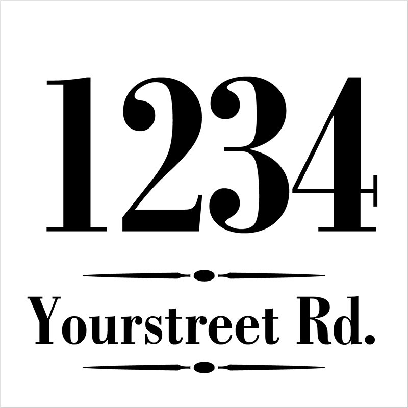 Personalized Classic Address Stencil by StudioR12 | Craft & Paint Custom House Numbers Wood Sign | DIY Outdoor Home Decor | Select Size