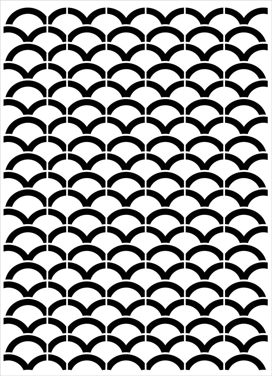 Scales - Repeatable Pattern Stencil
