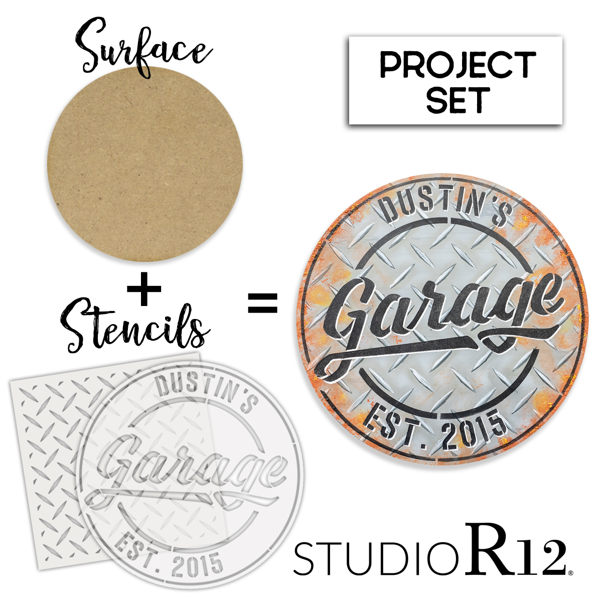 Personalized Garage Sign Project Set | CMBN548