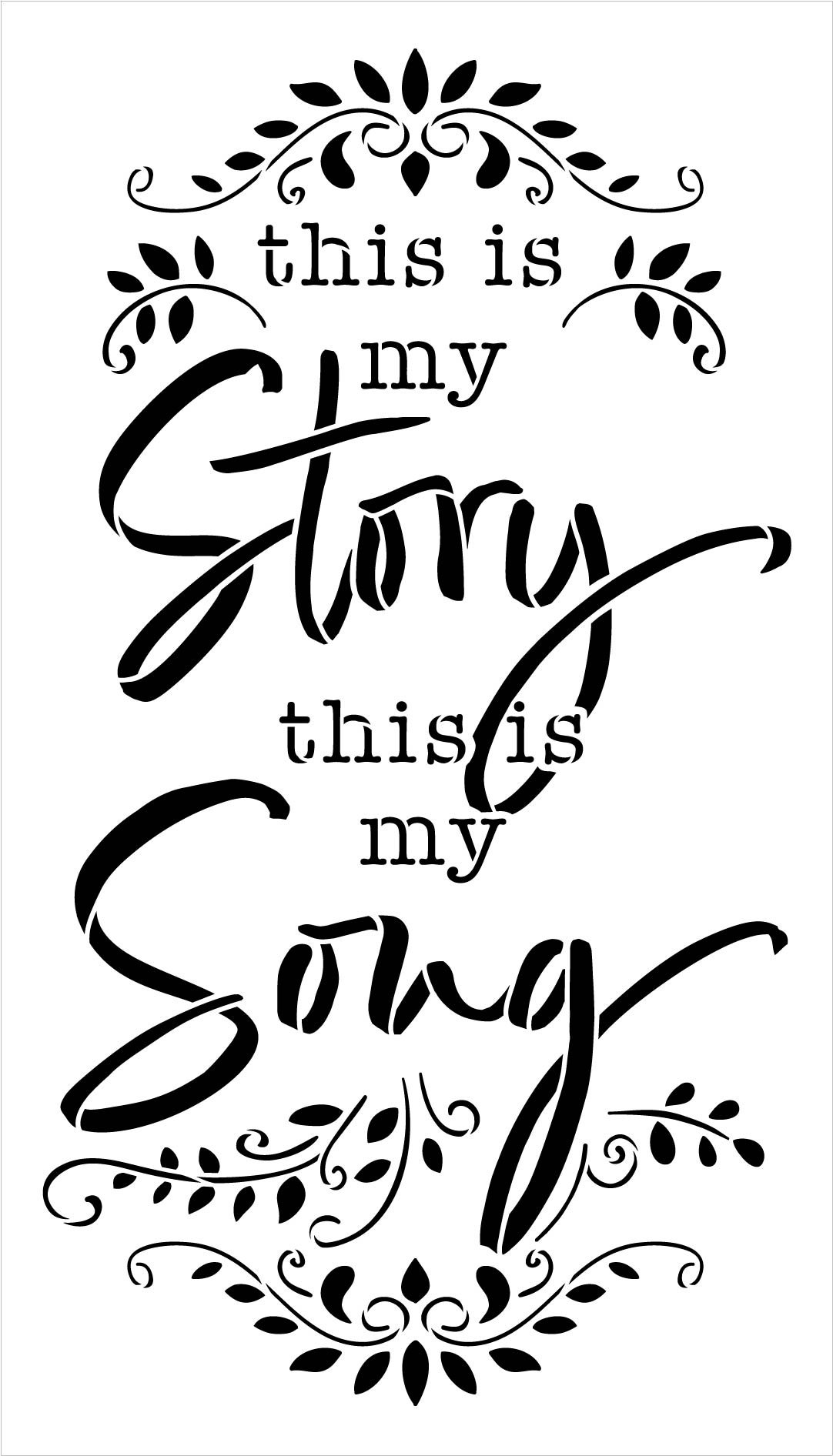 This is My Story This is My Song Hymn Stencil by StudioR12   DIY Faith Home Decor   Craft & Paint Wood Sign   Reusable Mylar Template   Select Size