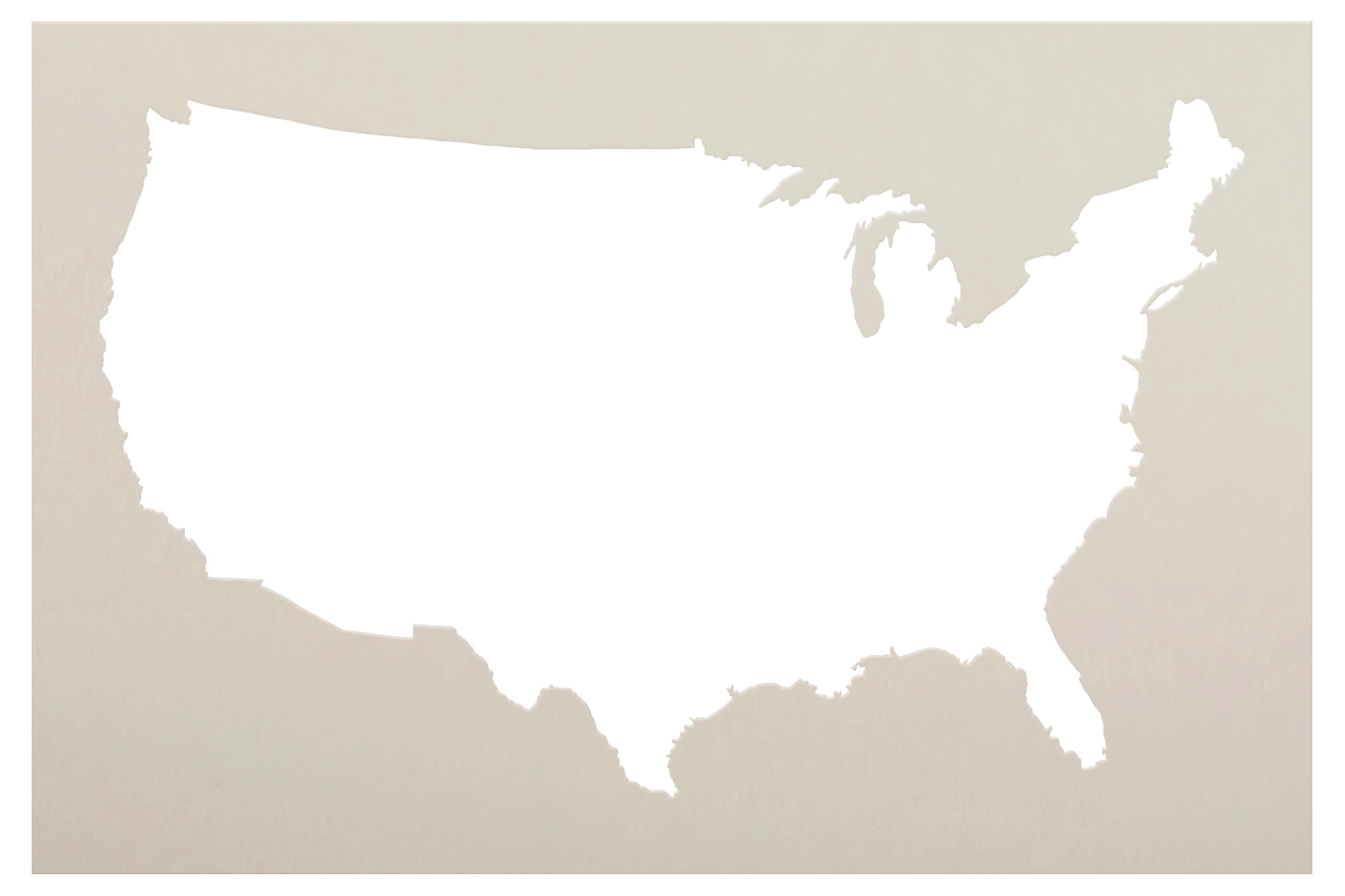 United States of America Stencil by StudioR12 | DIY USA Fourth of July Home Decor | Craft & Paint Wood Sign | Reusable Mylar Template | Select Size