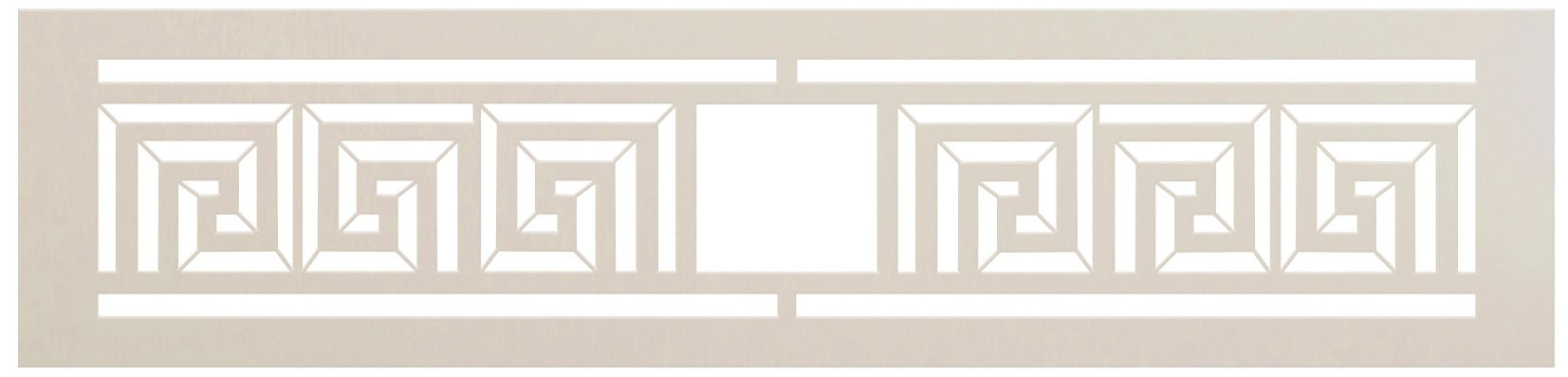 Meander Square Spiral Pattern Stencil by StudioR12 | DIY Greek Key Border Home Decor | Craft & Paint Wood Sign | Reusable Mylar Template | Select Size