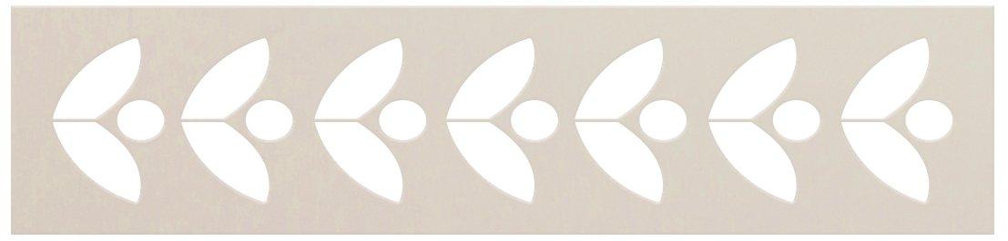 Leaf Border Pattern Stencil by StudioR12   DIY Minimalist Greek Petal Home Decor   Craft & Paint Wood Sign   Reusable Mylar Template   Select Size