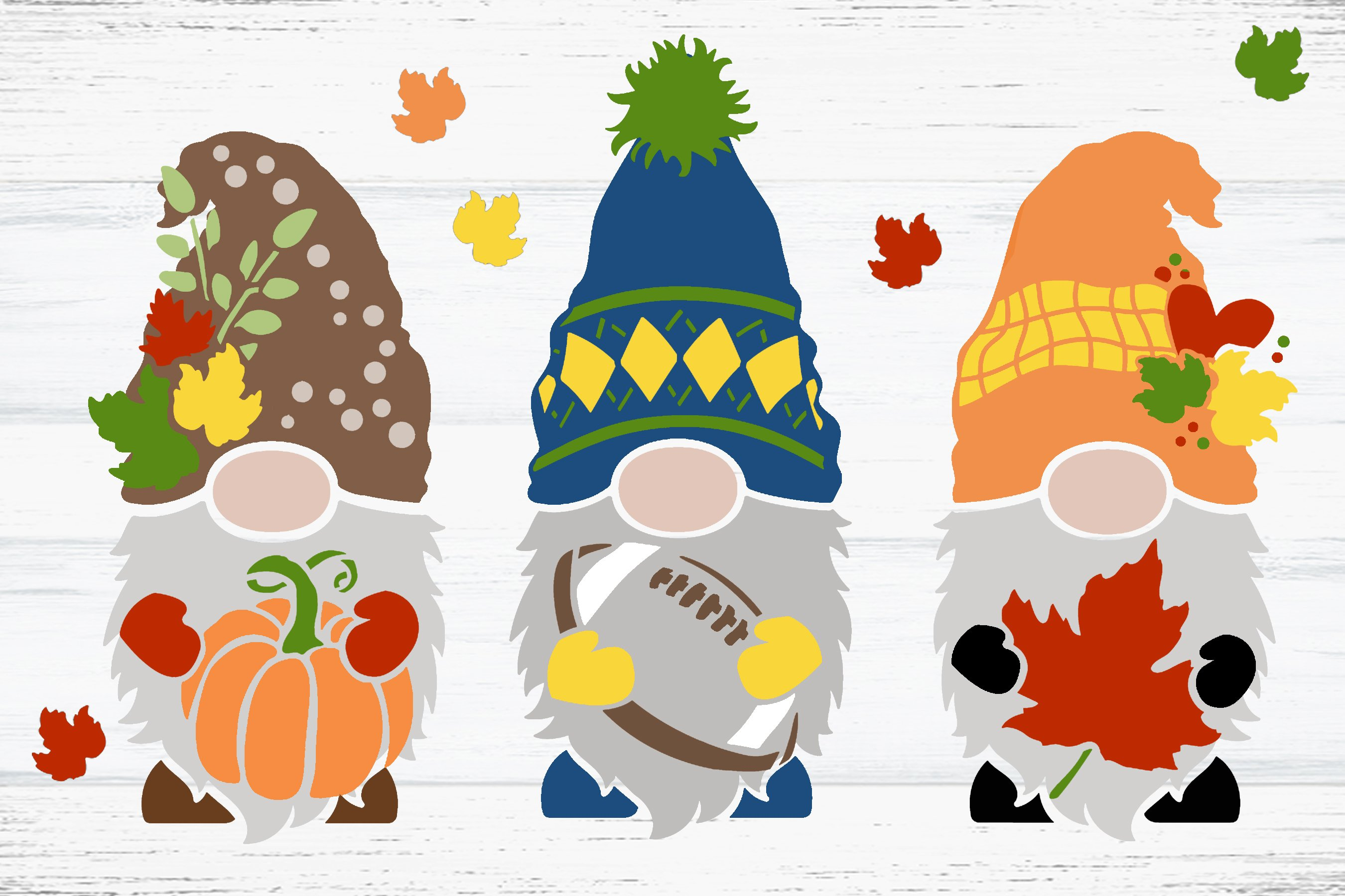 Fall Gnome Embellishment Stencil by StudioR12 | DIY Autumn Leaves Pumpkin Home Decor | Craft & Paint Wood Sign | Reusable Mylar Template | Select Size