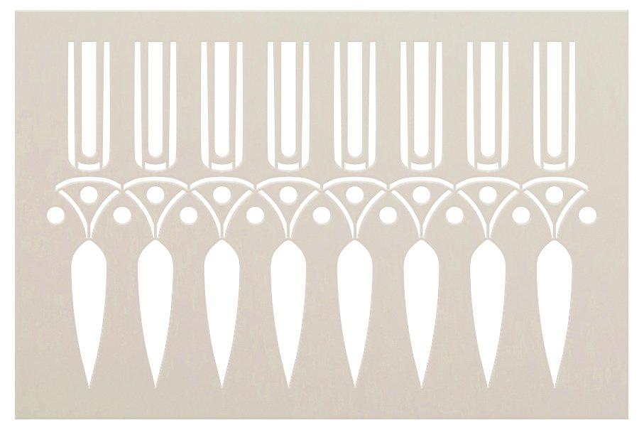 Greek Band Wall Tile Stencil by StudioR12   DIY Backsplash Border Floor Home Decor   Craft & Paint Wood Sign   Reusable Mylar Template   Select Size