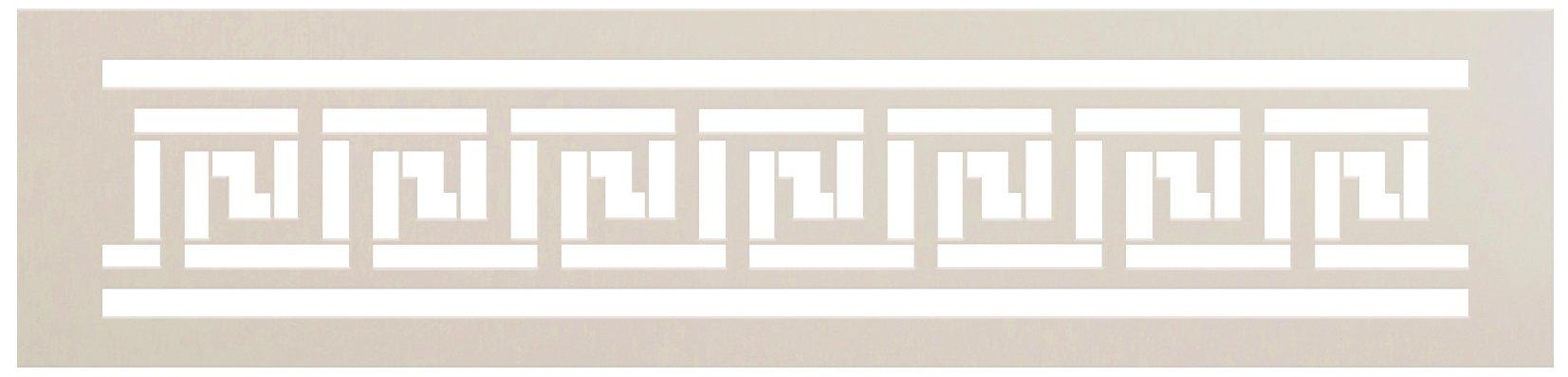 Greek Key Meander Wall Tile Stencil by StudioR12 | DIY Backsplash Border Floor Home Decor | Craft & Paint Wood Sign | Reusable Mylar Template | Select Size