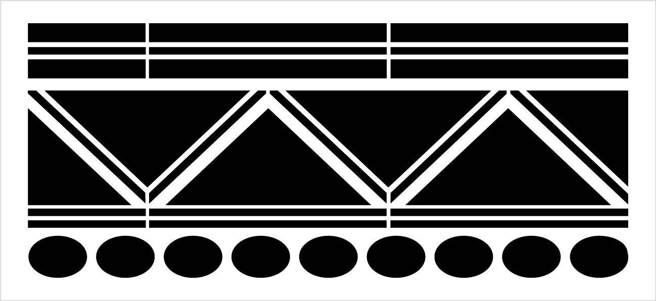Zig Zag Stripe Wall Border Tile Stencil by StudioR12 | DIY Backsplash Floor Home Decor | Craft & Paint Wood Sign Reusable Mylar Template | Select Size