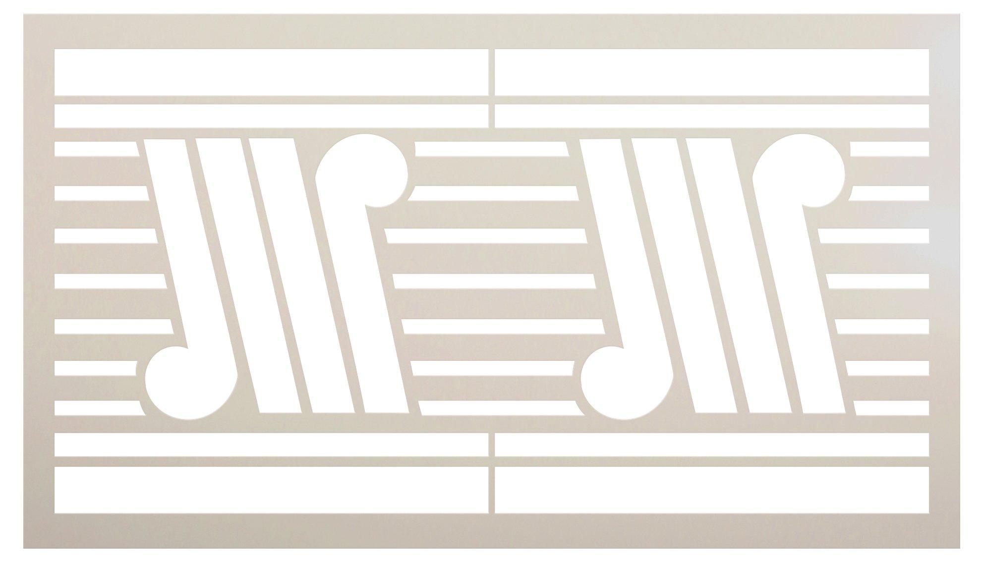 Stripe Tile Pattern Stencil by StudioR12 | DIY Greek Note Shape Backsplash Home Decor | Craft & Paint Wood Sign Reusable Mylar Template | Select Size