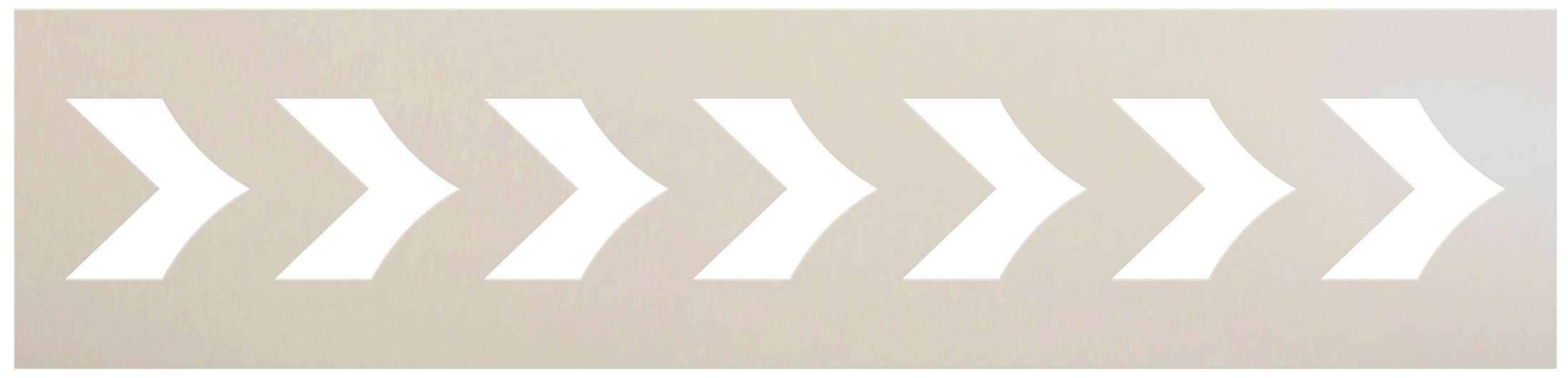 Curved Chevron Pattern Stencil by StudioR12   DIY Greek Arrow Border Home Decor   Craft & Paint Wood Sign   Reusable Mylar Template   Select Size