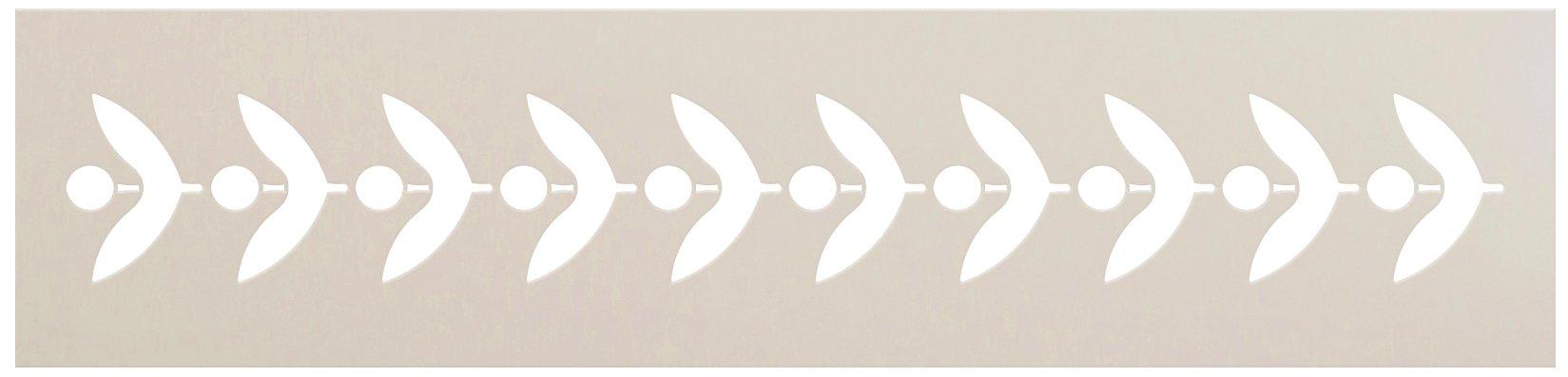 Leaf Border Line Pattern Stencil by StudioR12 | DIY Minimalist Greek Petal Home Decor | Craft & Paint Wood Sign Reusable Mylar Template | Select Size
