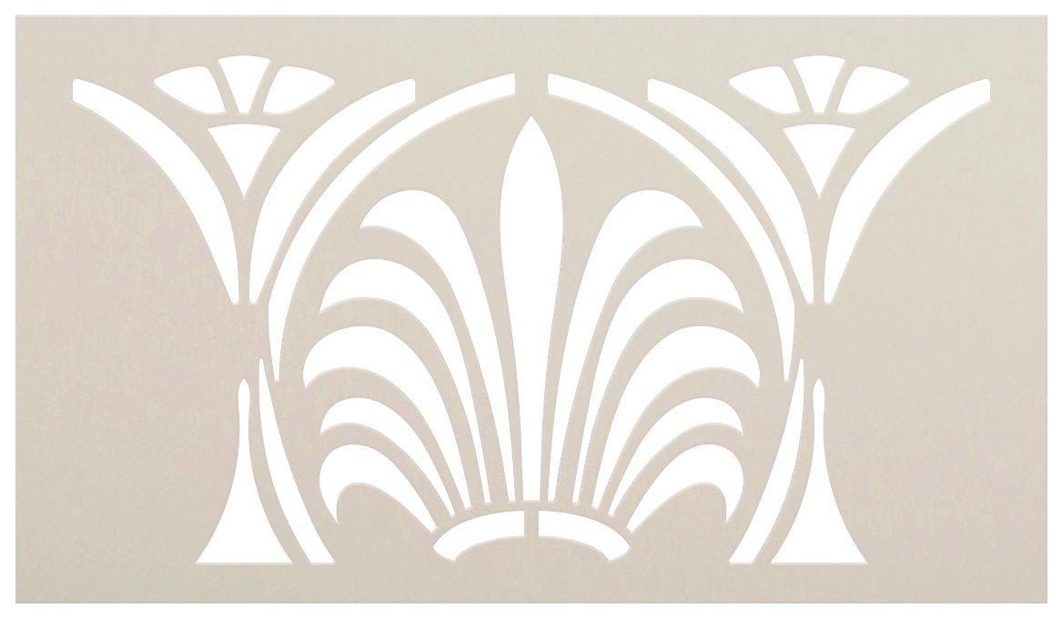 Greek Crown Border Stencil by StudioR12 | DIY Ornamental Column Pattern Home Decor | Craft & Paint Wood Sign Reusable Mylar Template | Select Size