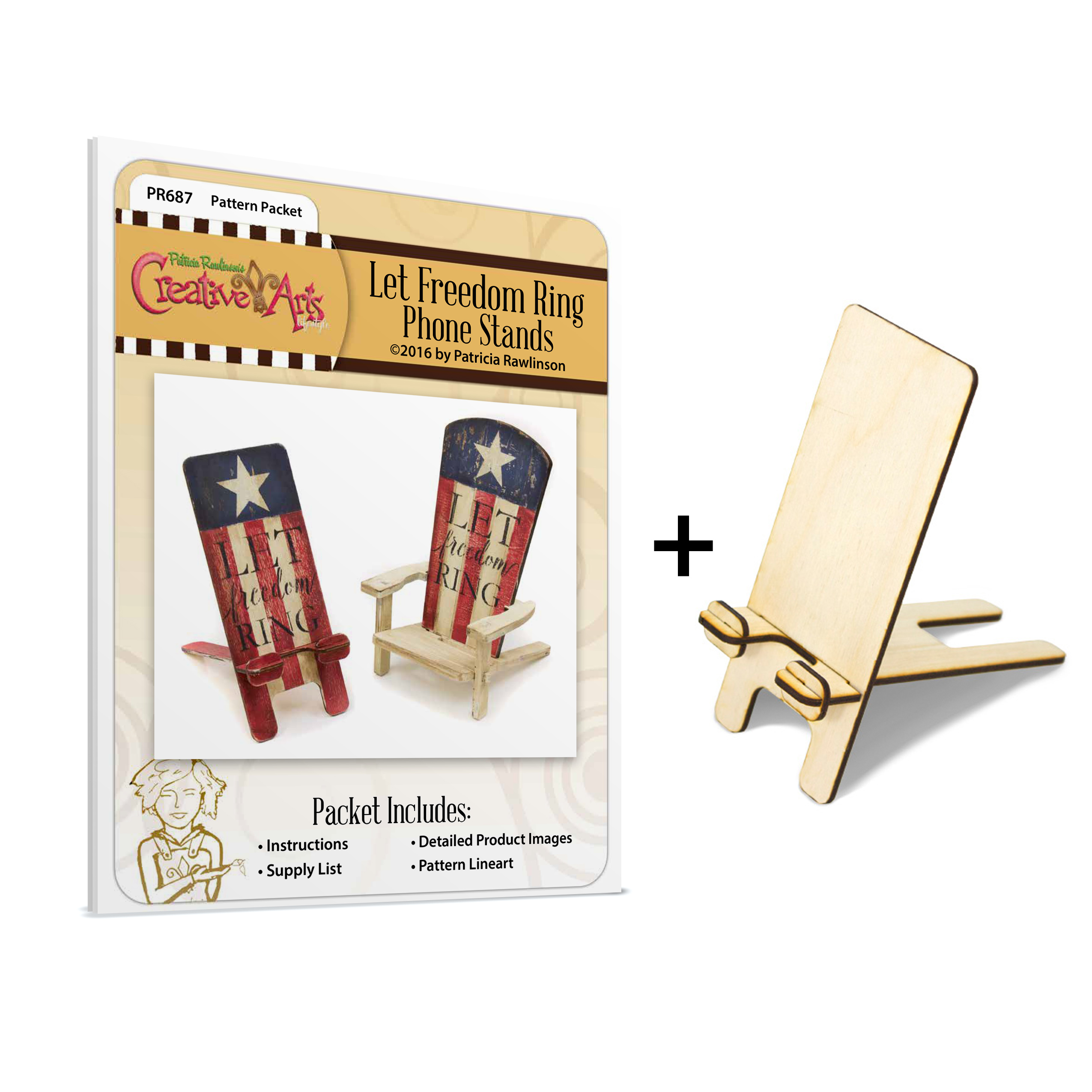 Let Freedom Ring Smartphone Stand Surface & Pattern Packet Project CMBN558