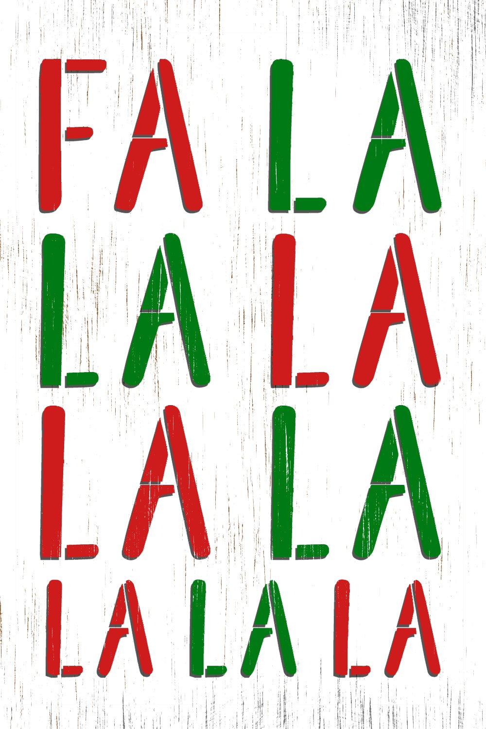 FA La La Stencil by StudioR12 | Deck The Halls | DIY Christmas Holiday Home Decor | Craft & Paint Wood Sign | Reusable Mylar Template | Select Size