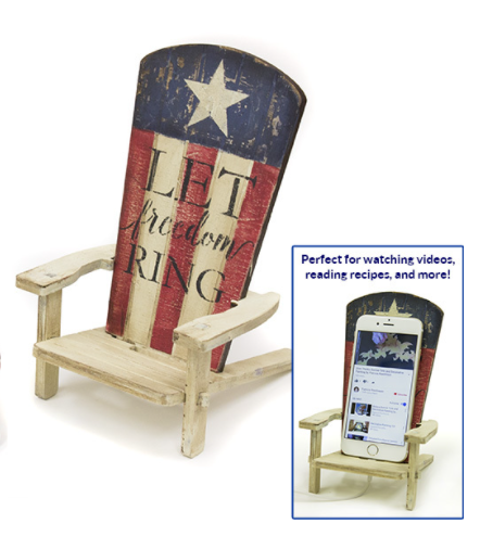 DIY Let Freedom Ring Smartphone Adirondack Stand Surface & Stencil  Project -CMBN561