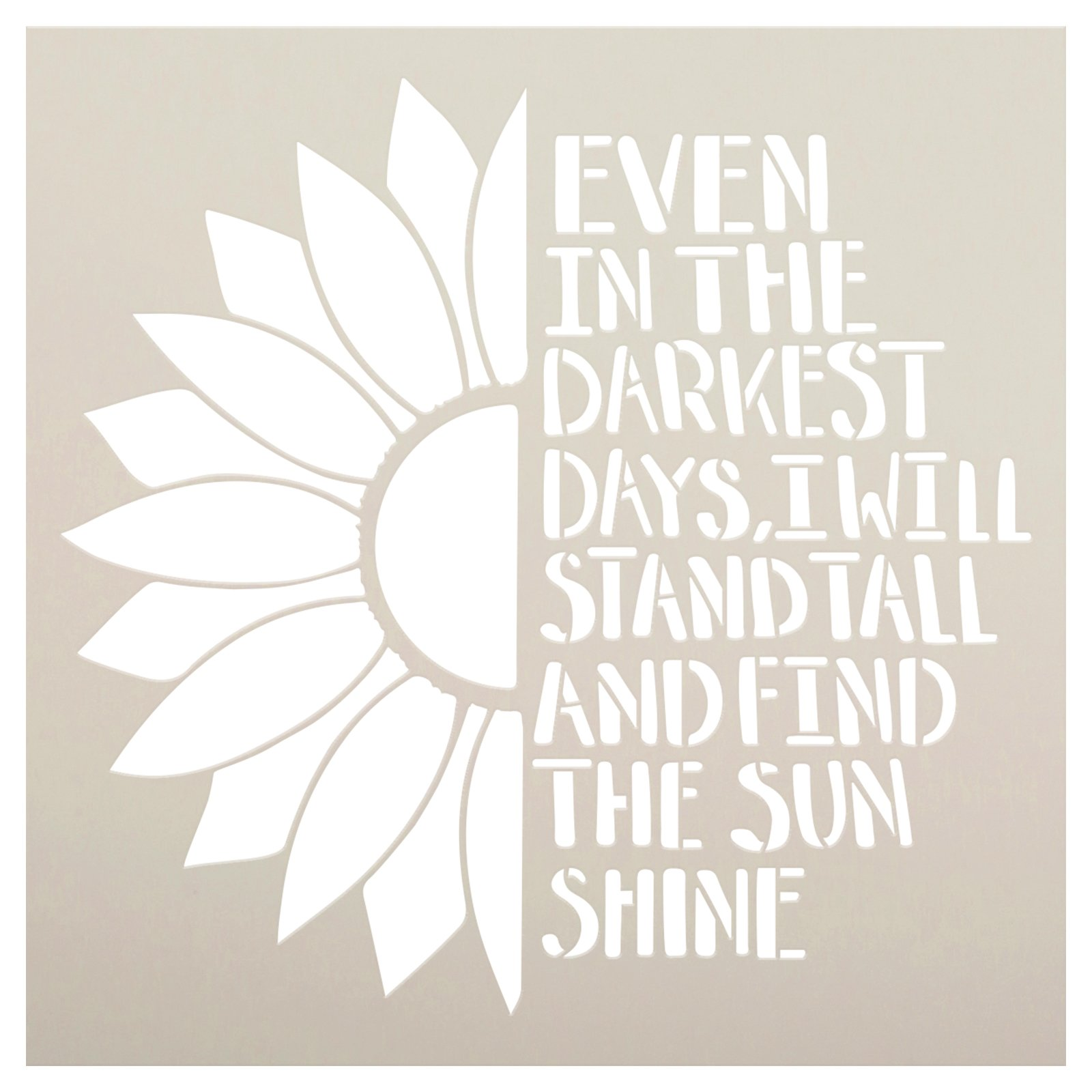 Stand Tall and Find The Sunshine Stencil by StudioR12   Craft DIY Sunflower Home Decor   Paint Wood Sign   Reusable Mylar Template   Select Size