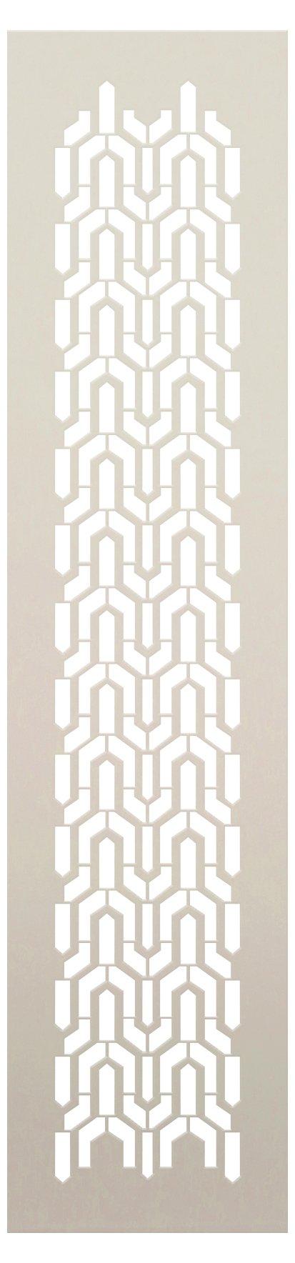Arabian Steeple Mosaic Band Stencil by StudioR12 | Craft DIY Backsplash Pattern Home Decor | Reusable Mylar Template | Paint Wood Sign | Select Size