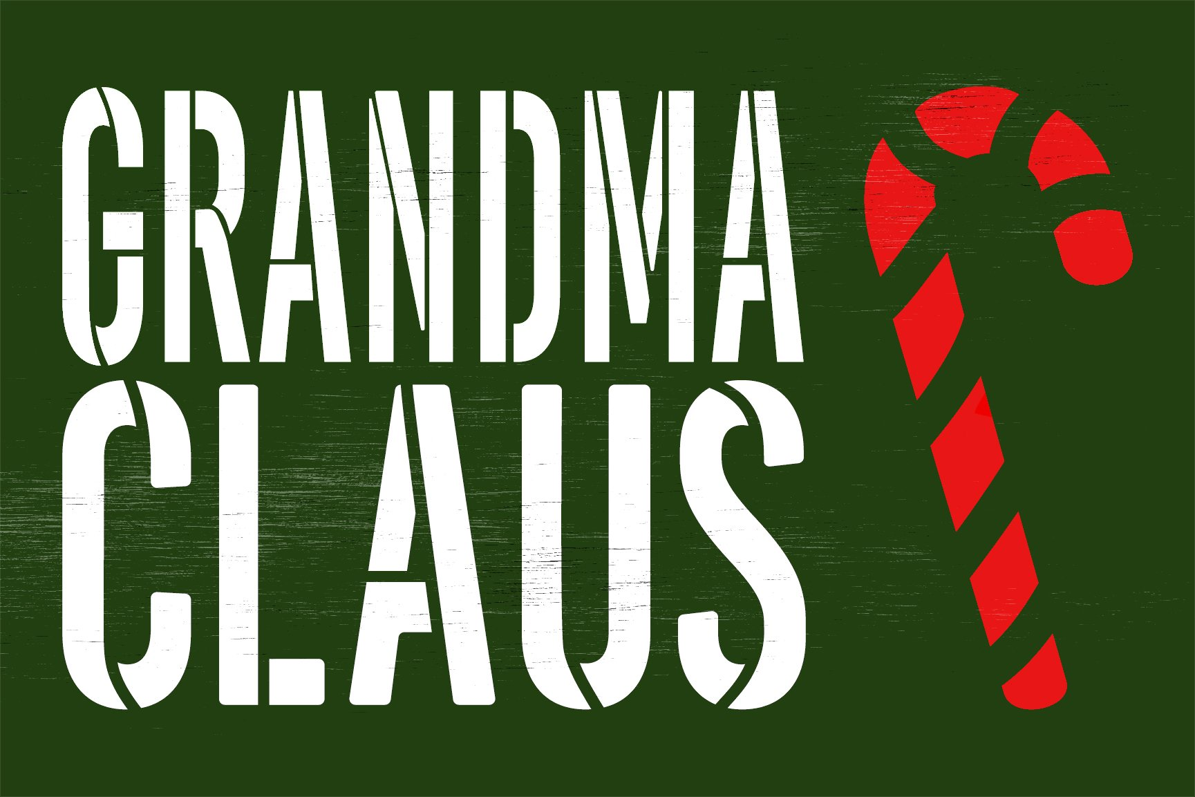 Personalized Claus Stencil with Candy Cane by StudioR12 | DIY Custom Christmas Home Decor | Craft Holiday Wood Signs | Select Size