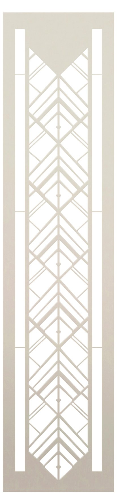 Medieval Double Diamond Stack Band Stencil by StudioR12   Craft DIY Repeat Pattern Home Decor   Paint Wood Sign Reusable Mylar Template   Select Size