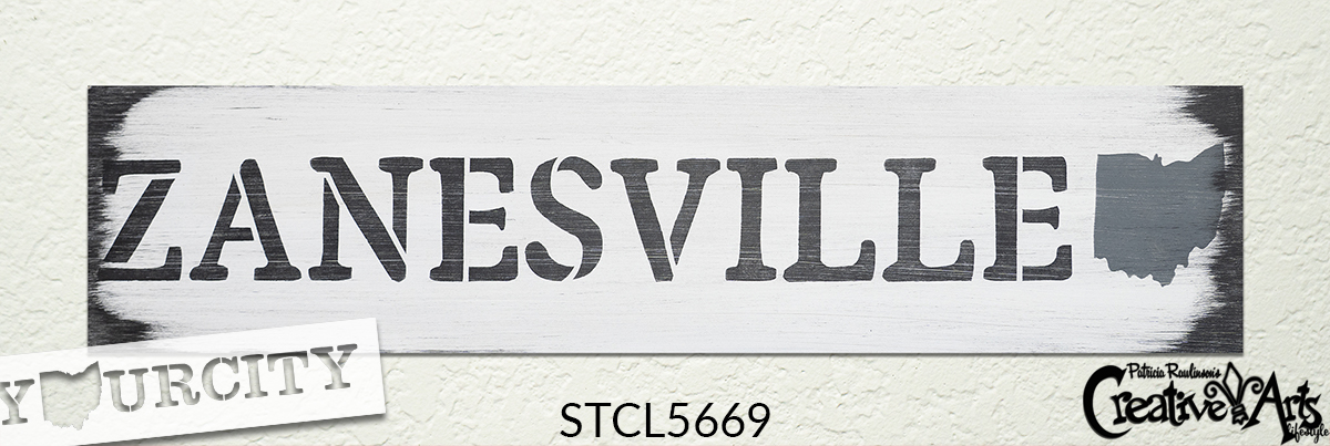 Personalized Hometown Stencil with State Shape by StudioR12 | DIY Home & Kitchen Decor | Craft & Paint Wood Signs | Select Size