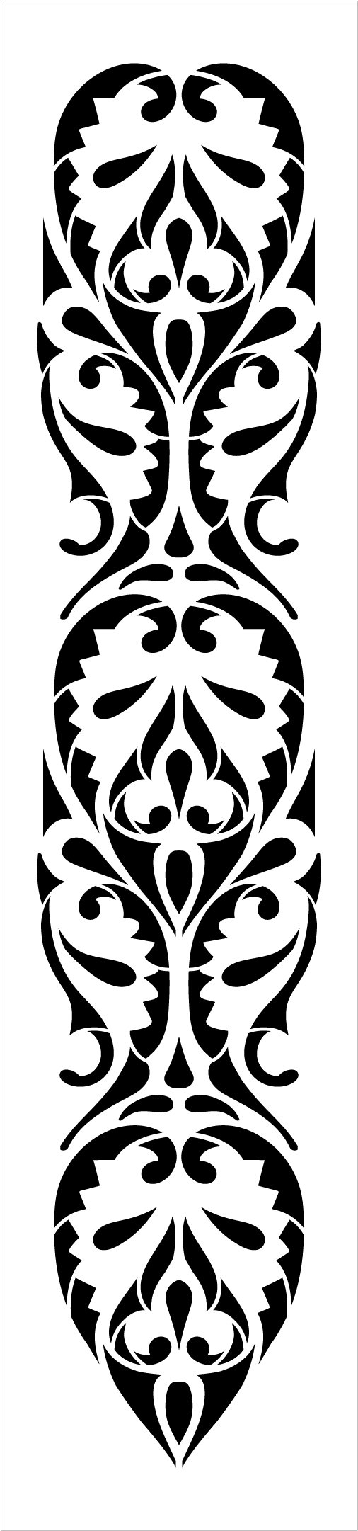 Egyptian Ornamental Leaf Band Stencil by StudioR12 | Craft DIY Repeating Pattern Home Decor | Paint Wood Sign | Reusable Mylar Template | Select Size