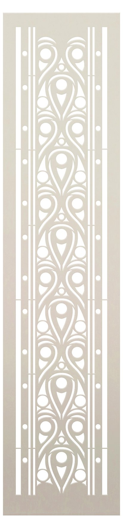 Egyptian Ornamental Water Band Stencil by StudioR12   Craft DIY Ornamental Pattern Home Decor   Paint Wood Sign   Reusable Template   Select Size
