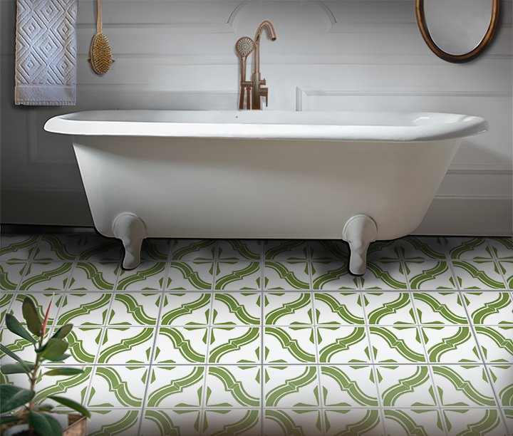 Diamond Wave Tile Stencil by StudioR12 | DIY Kitchen Wall Backsplash | Reusable Quarter Pattern for Bathroom Floor | Select Size