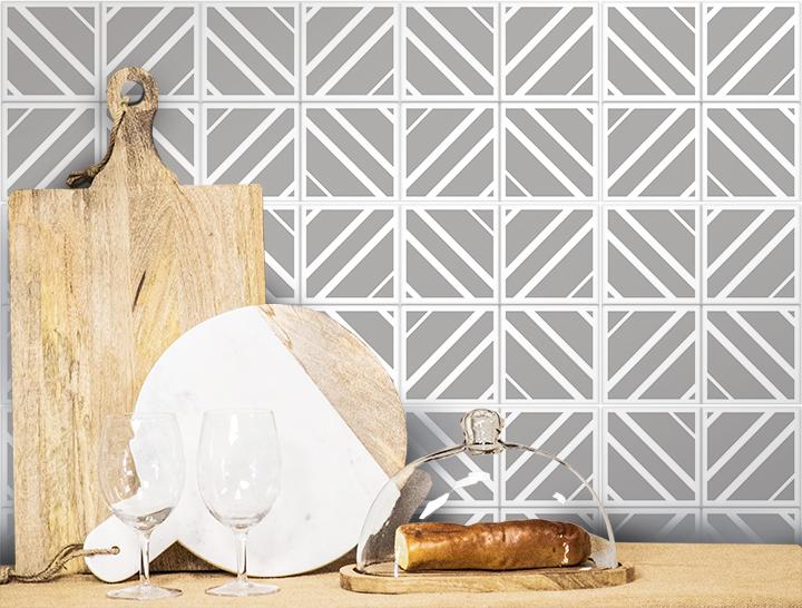 Diamond X Pattern Tile Stencil by StudioR12   Reusable Quarter Pattern for Bathroom Floor   DIY Kitchen Wall Backsplash   Select Size