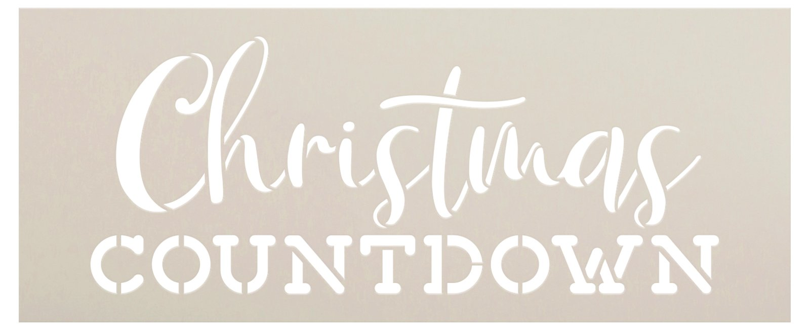 Christmas Countdown Stencil by StudioR12   DIY Holiday Advent Calendar Decor   Craft & Paint Winter Wood Signs   Select Size