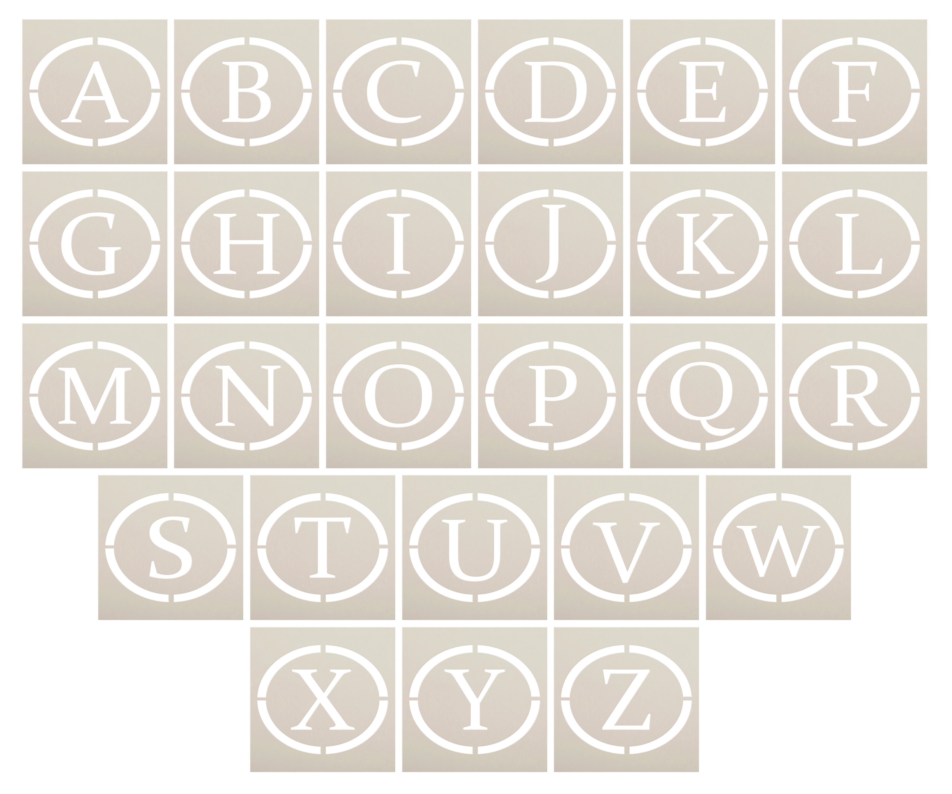 Monogram Weekly Calendar Stencil by StudioR12 | Personalized Family Menu Board Planner & Chalkboard for Kitchen | Select Letter | Size 18 x 13 inch