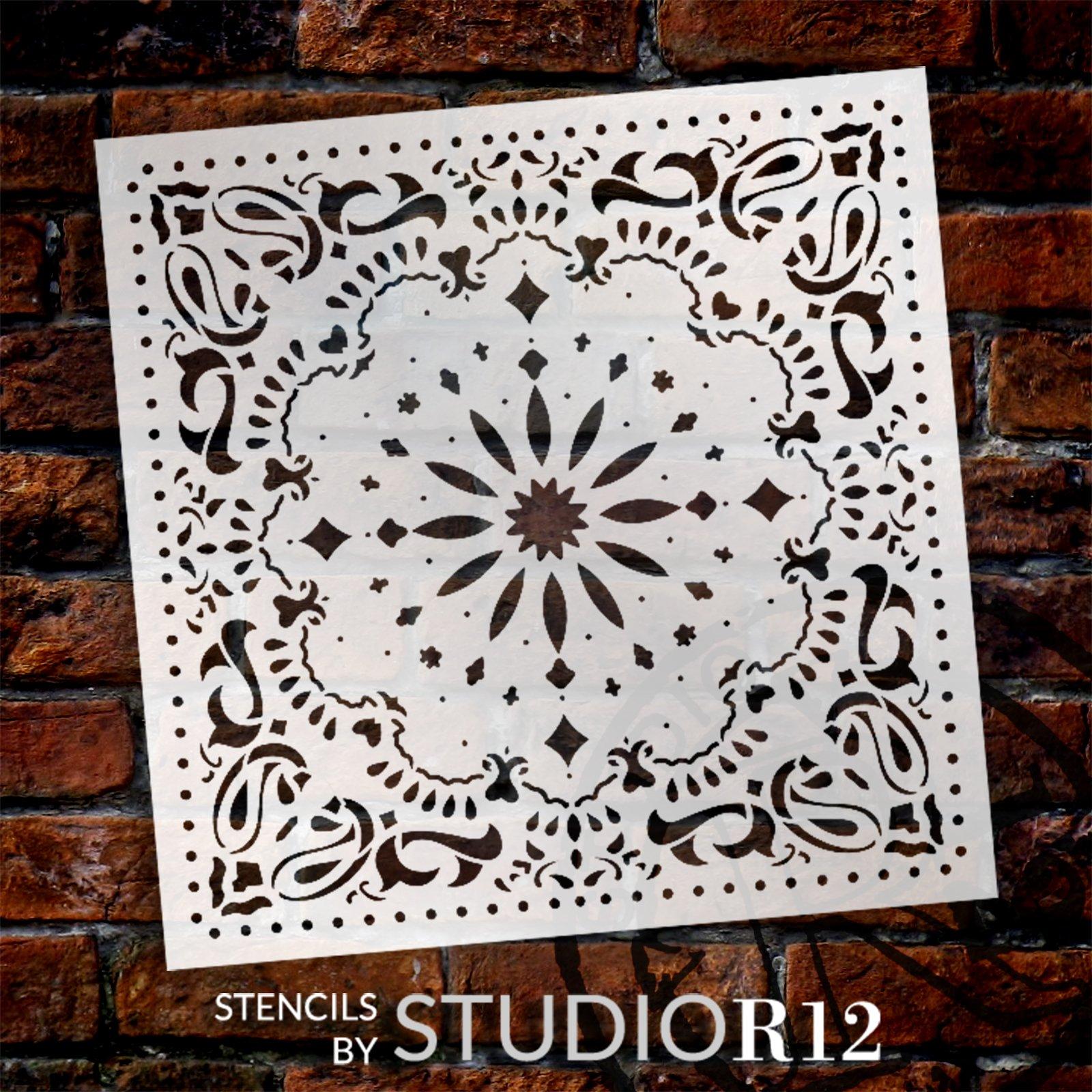Kaleidoscope Paisley Stencil by StudioR12 | Craft DIY Backsplash Home Decor | Paint Pattern Wood Sign | Reusable Mylar Template | Select Size