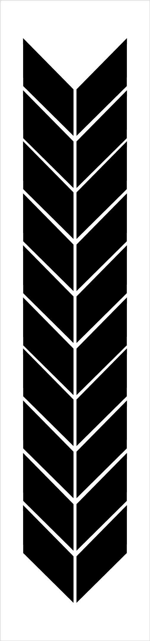 Chevron Band Pattern Stencil by StudioR12   Craft DIY Arrow Backsplash Home Decor   Paint Wood Sign Border   Reusable Template   Select Size
