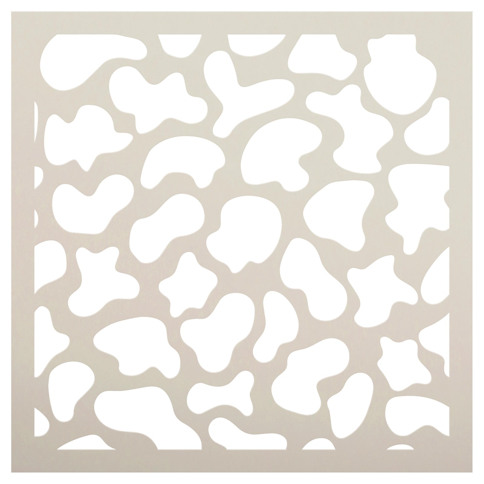 Cow Pattern Stencil by StudioR12 | Craft DIY Pattern Home Decor | Paint Decorative Wood Sign | Reusable Mylar Template | Select Size